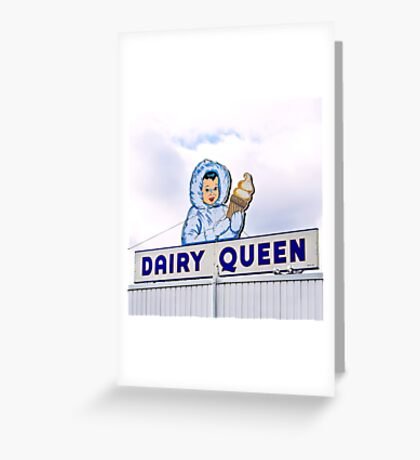 dairy queen's eskimo girl Greeting Card