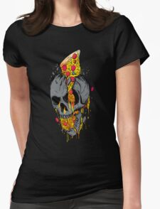 Rest in pizza Womens Fitted T-Shirt