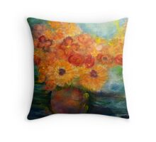 Autumn Flowers Art Designed Decor & Gifts Throw Pillow