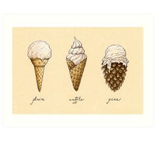 Ice-Cream Cones Art Print