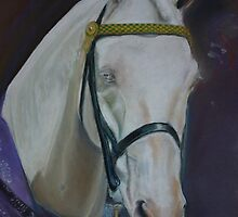 Cremello gelding. by uniqueartworks