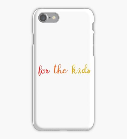 For the Kids Childhood Cancer Awareness iPhone Case/Skin