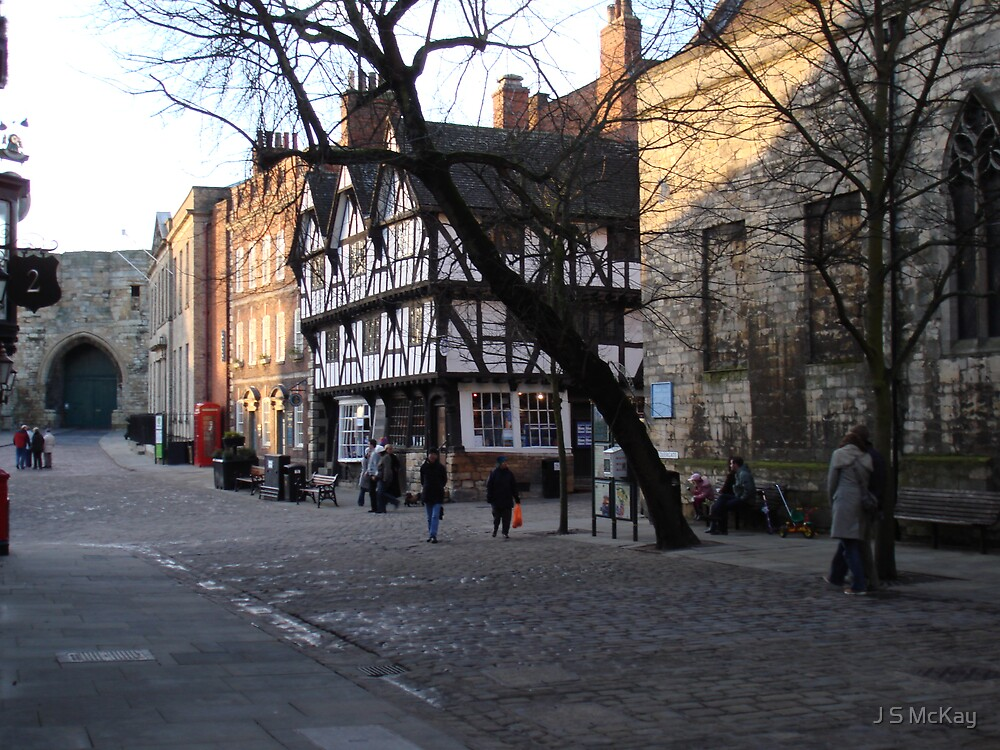 Twilight in Lincoln Castle Square by J S McKay