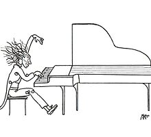 Concerto del piano (Ink Drawing) by mago