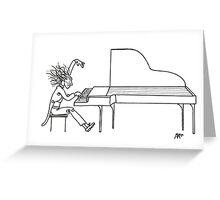 Concerto del piano (Ink Drawing) Greeting Card