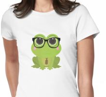 Frog Nerd Womens Fitted T-Shirt