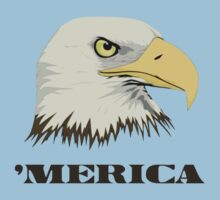 American Bald Eagle For Merica by TheShirtYurt