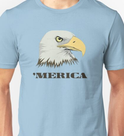 American Bald Eagle For Merica Unisex T-Shirt