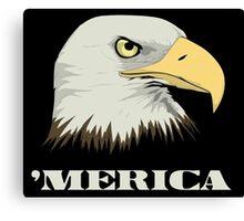 American Bald Eagle For Merica Canvas Print
