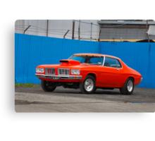 Orange Holden HQ Monaro Canvas Print