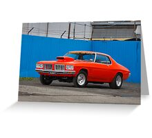 Orange Holden HQ Monaro Greeting Card
