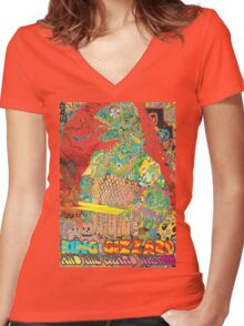 King Gizzard and the Wizard Lizard Women's Fitted V-Neck T-Shirt