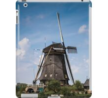 Picturesque landscape with windmills iPad Case/Skin