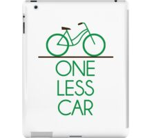 One Less Car Earth Friendly Bicycle iPad Case/Skin