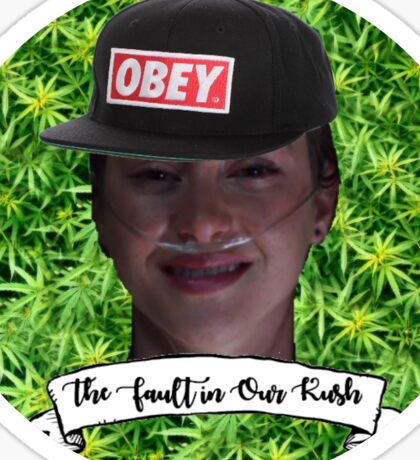 The Fault in Our Kush Sticker