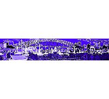 Harbour in Blue Photographic Print