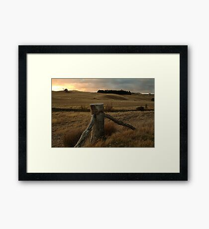 Sunset,Pyrenees near Amphitheatre Framed Print