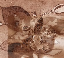 Merged Sepia Orchid by Ann Williams-Fitzgerald
