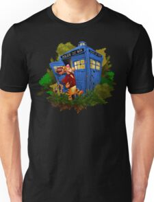 Doctor Tiger with Blue Phone Box Unisex T-Shirt