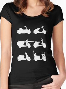 History of Vespa Women's Fitted Scoop T-Shirt