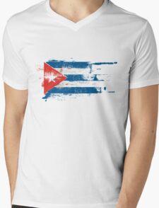 TORN CUBA Mens V-Neck T-Shirt
