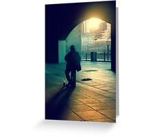 the busker Greeting Card