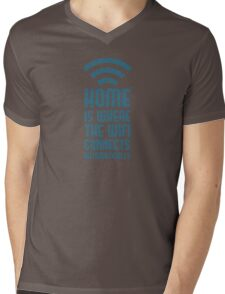 Home Is Where The WIFI Connects Automatically Mens V-Neck T-Shirt