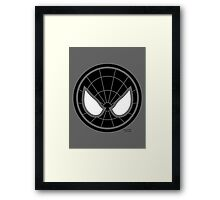 Hero Circles - Black Spidey Framed Print
