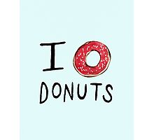 I ❤ Donuts Photographic Print