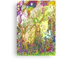 Tree woman, we all come from the Earth Canvas Print