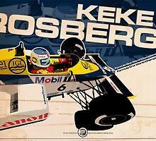 Keke Rosberg - F1 1985 by Evan DeCiren