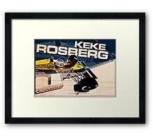 Keke Rosberg - F1 1985 Framed Print