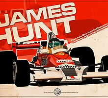 James Hunt - F1 1977 by Evan DeCiren