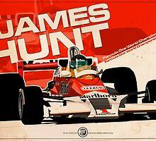 James Hunt - F1 1977 by Evan DeCiren