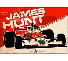 James Hunt - F1 1977 Photographic Print