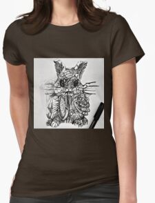 scary rabbit Womens Fitted T-Shirt