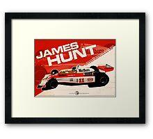 James Hunt - F1 1976 Framed Print