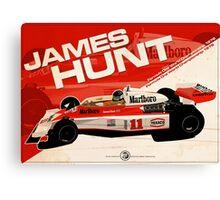 James Hunt - F1 1976 Canvas Print