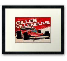 Gilles Villeneuve - F1 1979 Framed Print