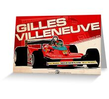 Gilles Villeneuve - F1 1979 Greeting Card