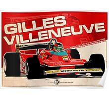 Gilles Villeneuve - F1 1979 Poster