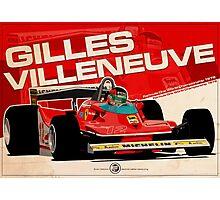Gilles Villeneuve - F1 1979 Photographic Print