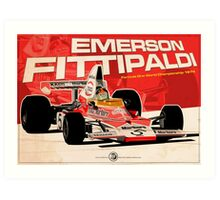 Emerson Fittipaldi – F1 1974 Art Print
