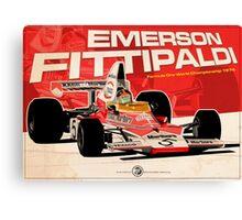 Emerson Fittipaldi – F1 1974 Canvas Print