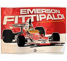 Emerson Fittipaldi – F1 1974 Poster