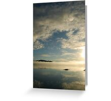 mirror on the water Greeting Card
