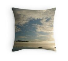 mirror on the water Throw Pillow