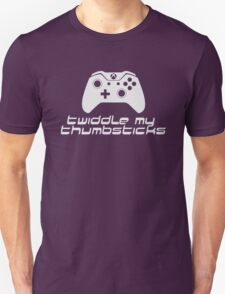 Twiddle My Thumbsticks (White) Unisex T-Shirt