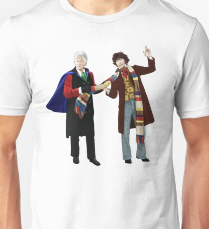 3rd and 4th Doctors Unisex T-Shirt