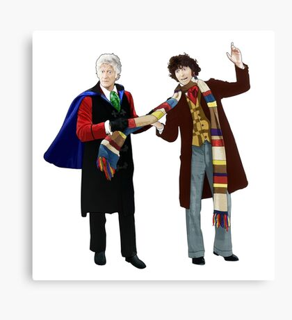 3rd and 4th Doctors Canvas Print